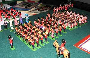 Toy soldier displays